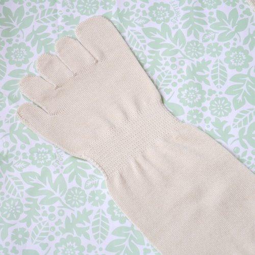 シルクを綿で守る5本指ソックス_着用前_up